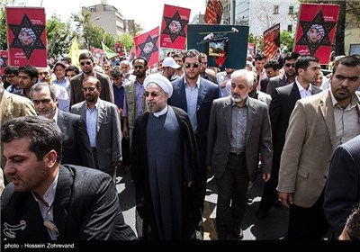 Senior Iranian officials Attend Rallies on Int'l Quds DaySenior Iranian Officials Attend Rallies on Int'l Quds Day