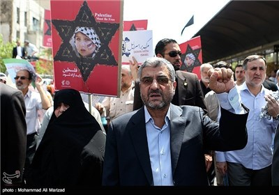 Senior Iranian Officials Attend Rallies on Int'l Quds Day