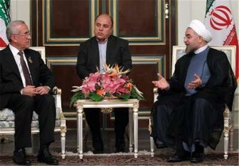 Rouhani Praises Lebanon's Resistance in Meeting with Suleiman