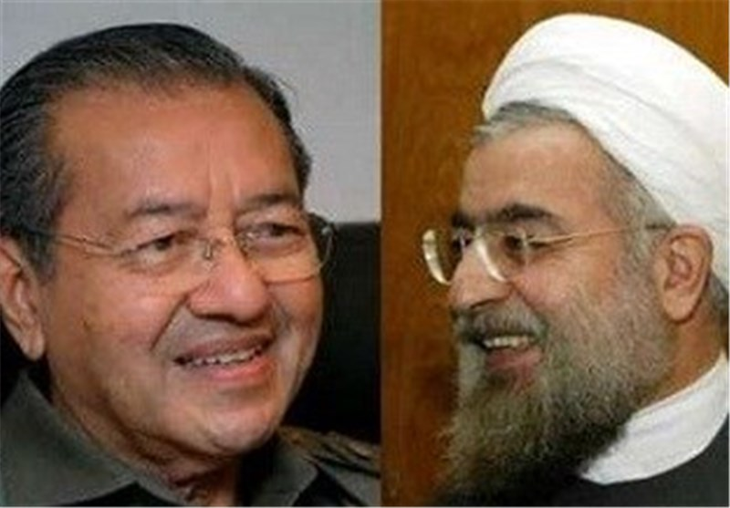 President Rouhani meets Mahathir Mohamad