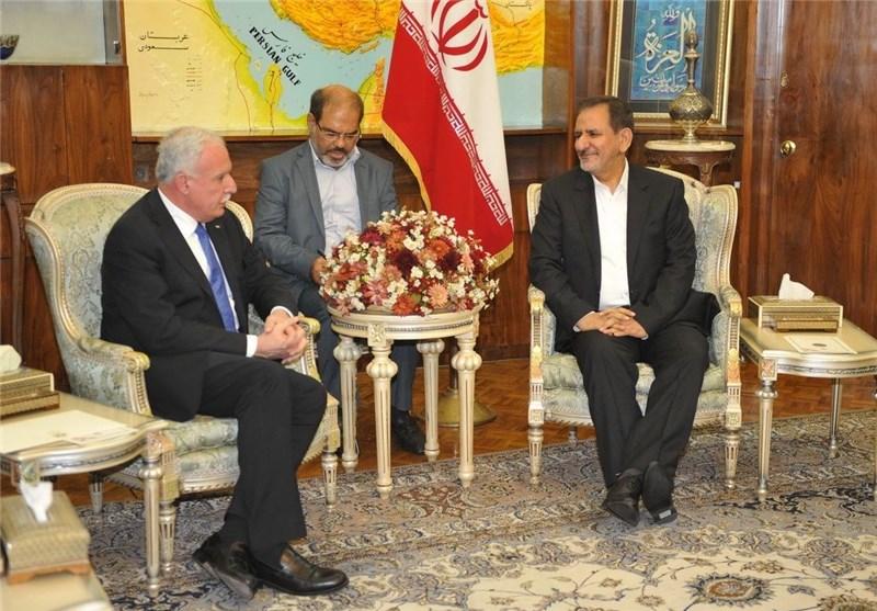 جهانگیری و وزیر خارجه فلسطین