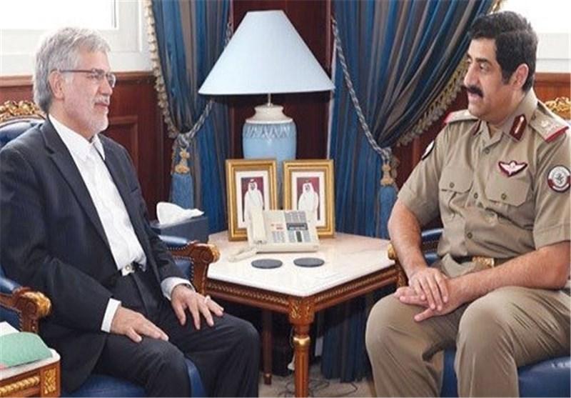 سفیر ایران در دوحه و وزیر دفاع قطر