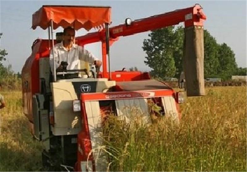 برداشت مکانیزه برنج