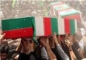 مردم ماهیدشت پیکر دو شهید گمنام را تشییع کردند