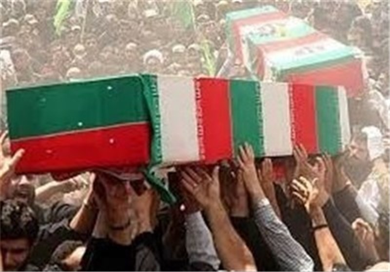 پیکر پاک و مطهر شهدای حادثه تروریستی سراوان در زاهدان تشییع شد