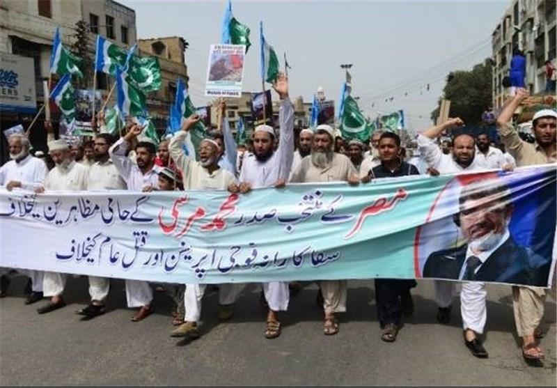 Pakistanis Stage Rallies against Killings in Egypt