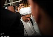حضور آیت الله هاشمی رفسنجانی در مراسم سالگرد آیتالله صالحی مازندرانی در شیرگاه استان مازندران