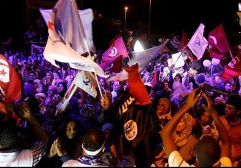 Anti-Government Protesters March in Tunisia