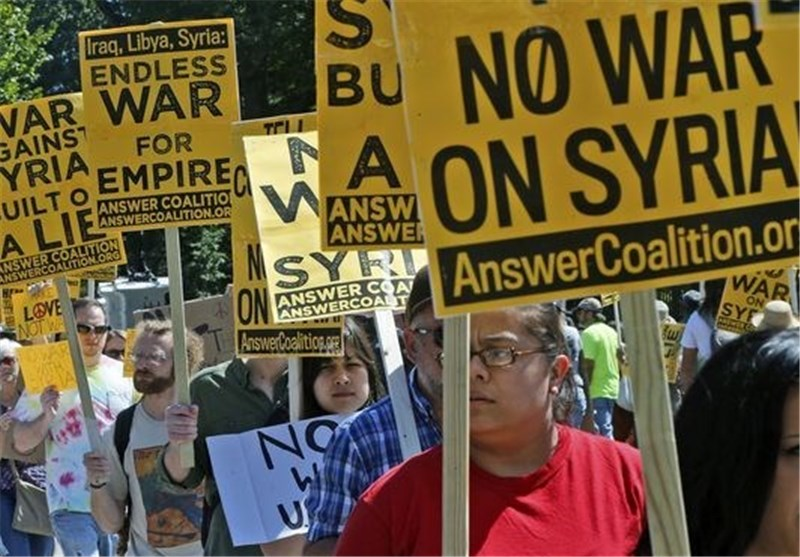 Protesters Rally against Syria Strike in Washington, NYC