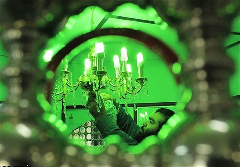 حرم امامزاده علی صالح(ع) در مهران غبارروبی شد