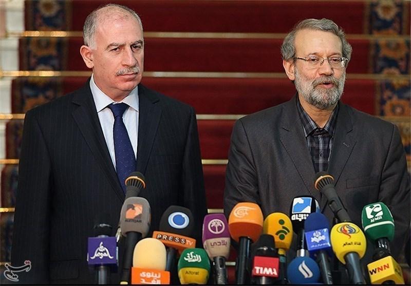 Larijani Stresses Iran, Iraq's Identical Views on Settlement of Syria Crisis