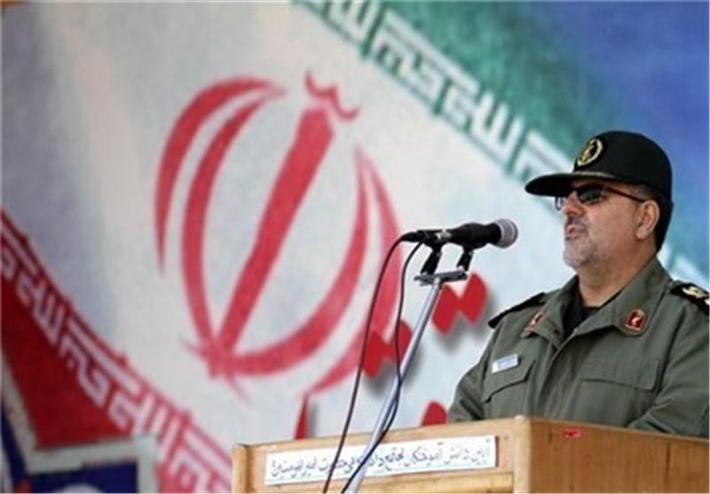 قائد القوة البریة لحرس الثورة الاسلامیة: الحدود الایرانیة آمنة بالکامل