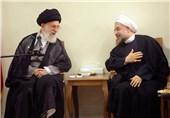 روحانی و رهبر انقلاب