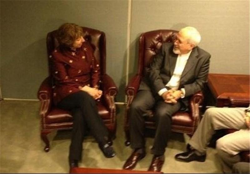 Zarif, EU's Ashton Meet in Geneva Hours before New Round of Talks