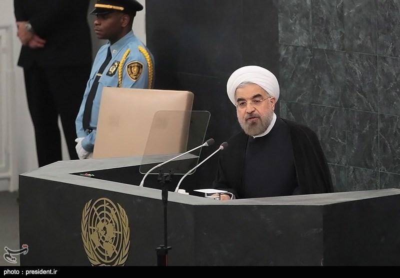 روحانی سیشارک فی اجتماع الجمعیة العامة للأمم المتحدة فی نیویورک