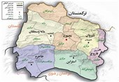 نقشه خراسان شمالی