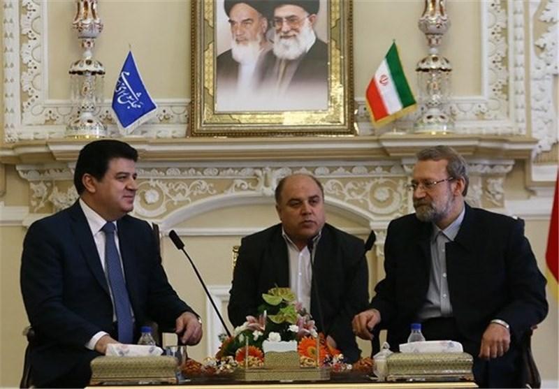 علی لاریجانی و سفیر سوریه