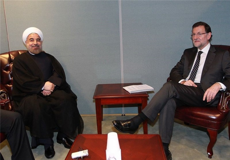 Rouhani Meets Spanish Prime Minister