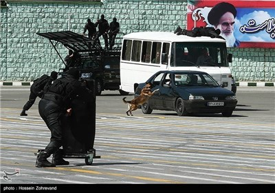 Foreign Military Attaches Visit Iranian Police Academy
