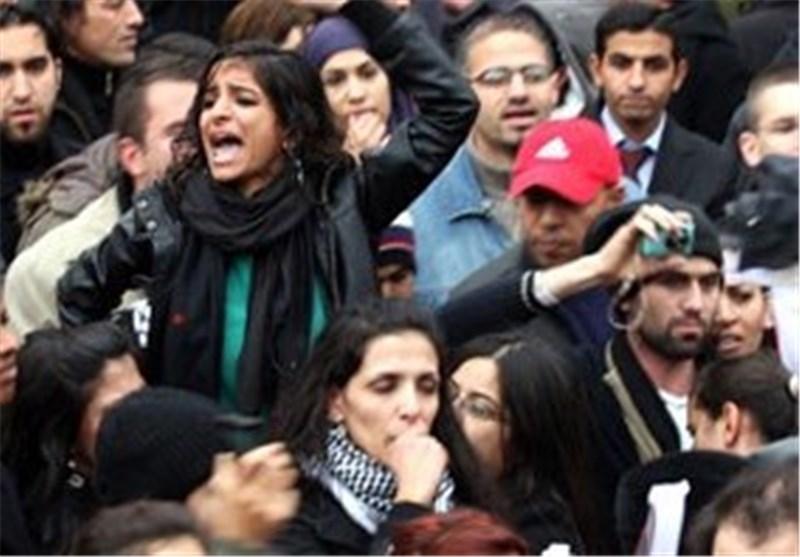 تظاهرات ساکنان غزه علیه مذاکرات سازش و محاصره اردوگاه الیرموک