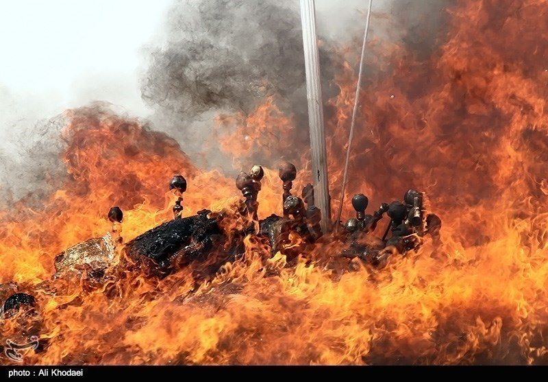 Photos: Iran Sets Fire to Large Volume of Illicit Drugs