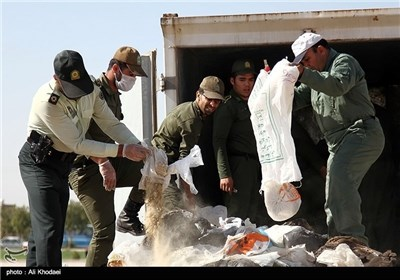 Iran Sets Fire to Large Volume of Illicit Drugs