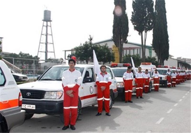 نیروهای امداد و نجات هلال احمر اردبیل به محل حادثه اعزام شدند