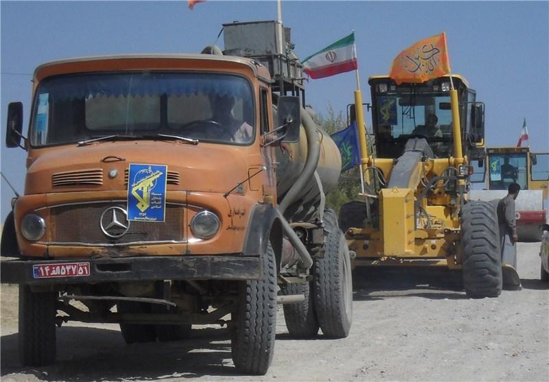 زلزله کرمانشاه| اعزام تجهیزات جدید مهندسی از سپاه به مناطق زلزله زده