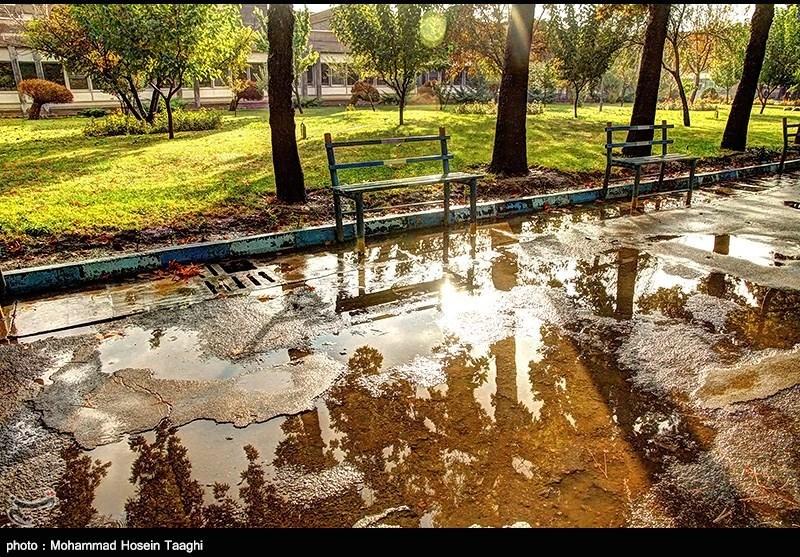 باران پاییزی در مشهد