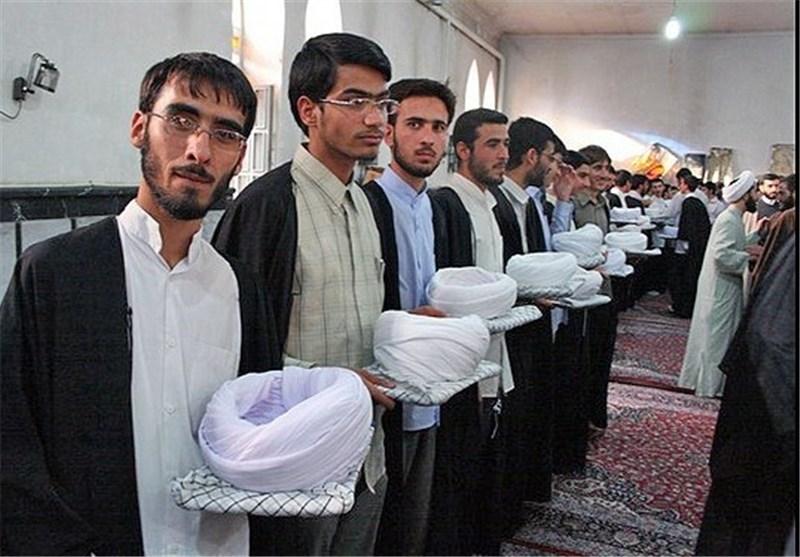 برگزاری آئین عمامهگذاری 50 نفر از طلاب شیرازی