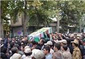 تشییع شهید لنگری