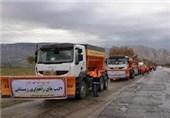 33 اکیپ راهداری زمستانی در محورهای برفگیر استان مازندران مستقر شد