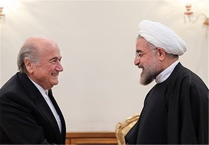 FIFA Chief Meets Iran's President