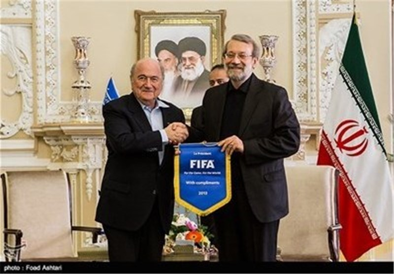 FIFA Chief Blatter Meets Parliament Speaker Larijani