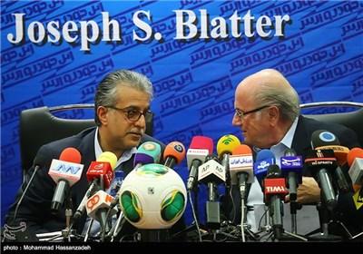 نشست خبری سپ بلاتر رئیس فیفا