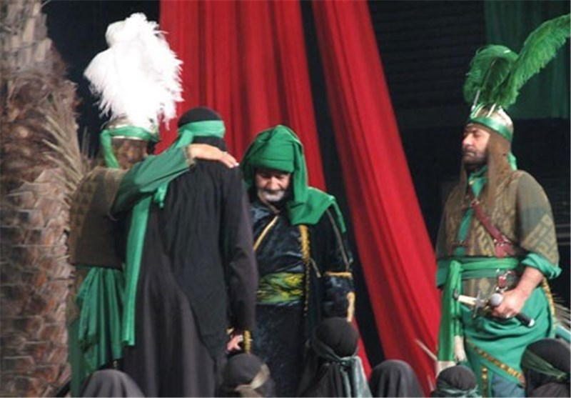مراسم شبیه خوانی هشتم محرم در بازار سرپوشیده اراک