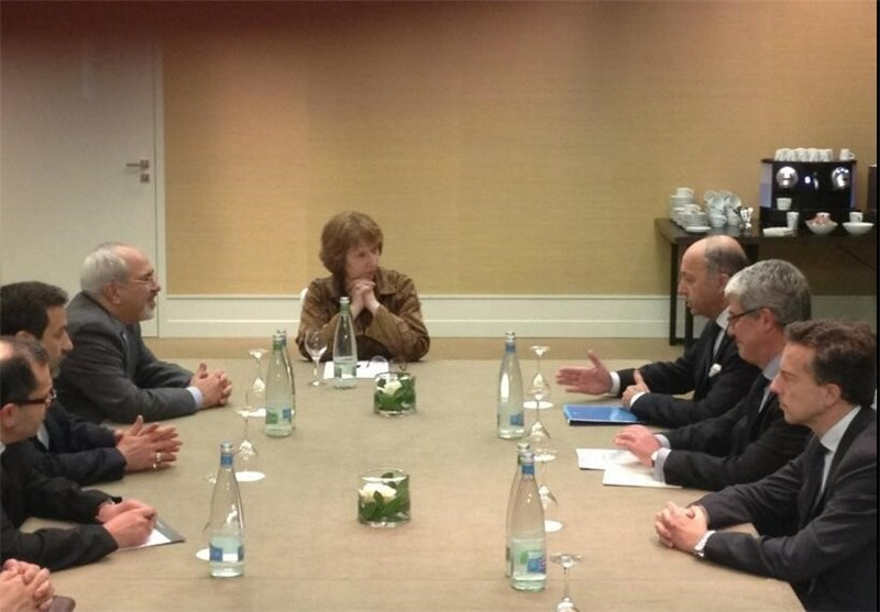 Iran-French Foreign Ministers, Ashton Hold Trilateral Meeting