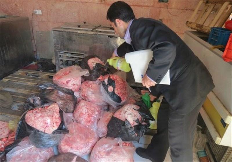بیش از 600 کیلوگرم فرآورده گوشتی غیرمجاز در قزوین معدوم شد