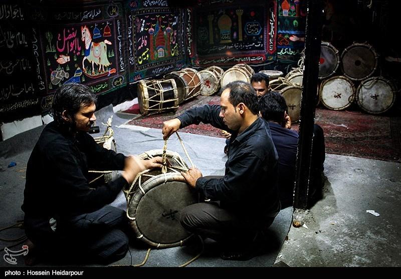 139208211608324831526554 تصاویر/ سنج و دمام در عزاداری بوشهر