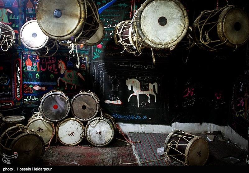 139208211608325931526554 تصاویر/ سنج و دمام در عزاداری بوشهر