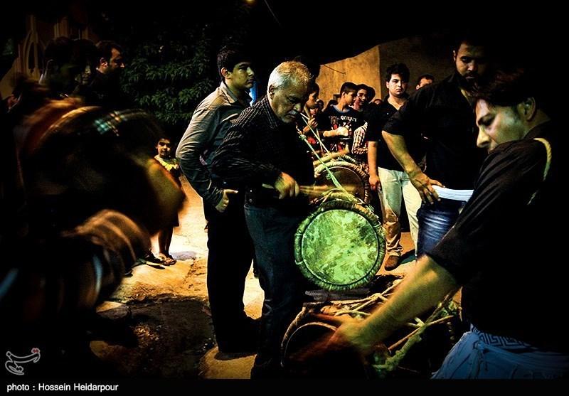 139208211608339341526554 تصاویر/ سنج و دمام در عزاداری بوشهر