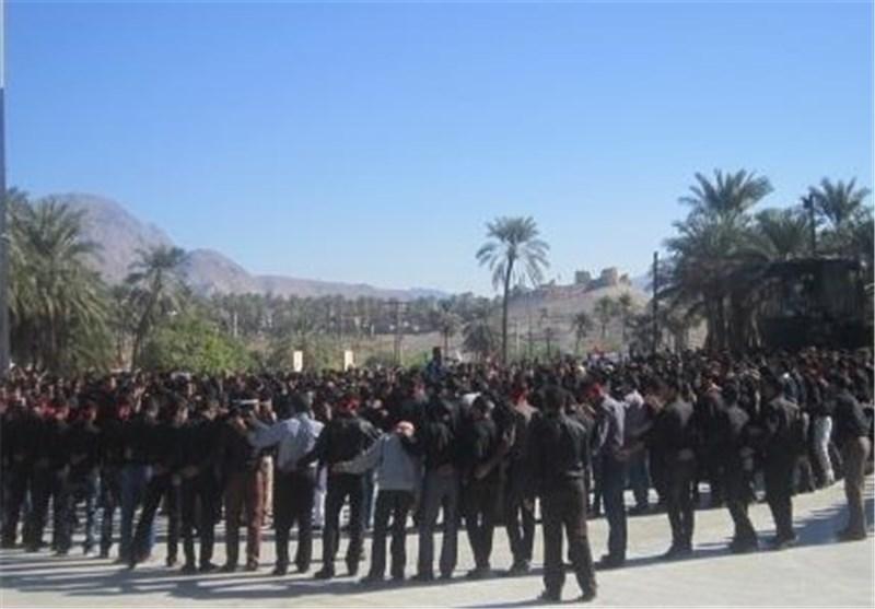 مراسم عزاداری شهادت امام رضا(ع) در حاجی آباد برگزار شد
