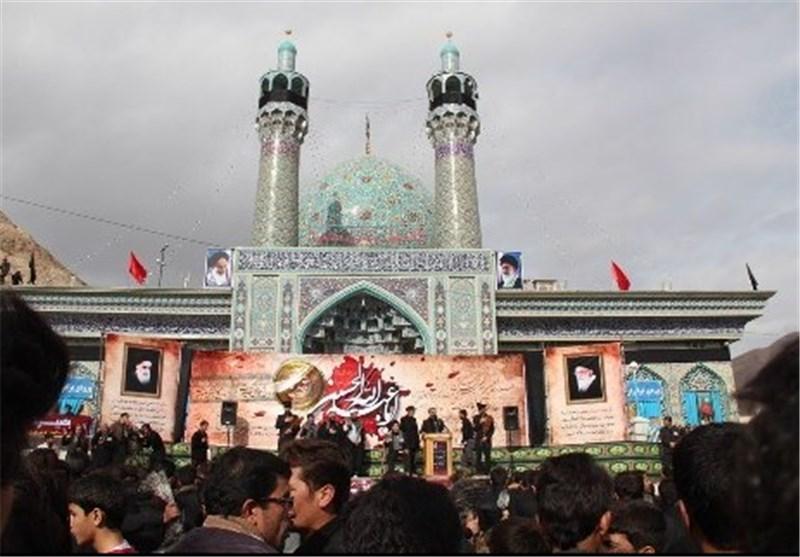 بقعه امامزاده چشام داورزن سوگوار عزای ثامنالحجج(ع) شد