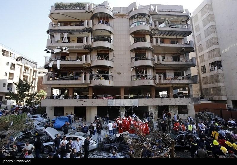 تفجیران قرب سفارة ایران فی بیروت