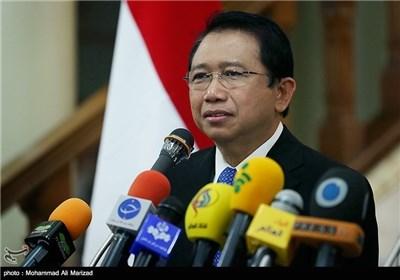 لقاع رئیس البرلمان الندونزی مع لاریجانی