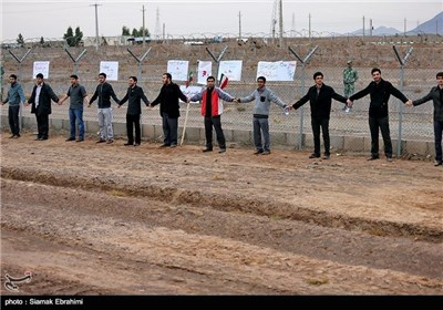 Photos: Iran's Fordo N. Plant Surrounded by Human Chain