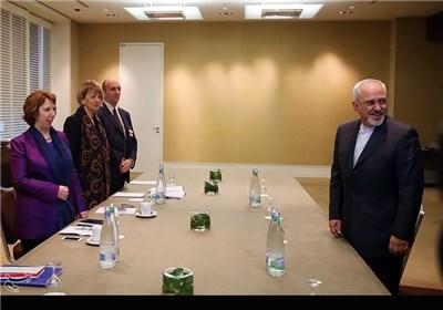 دیدار محمدجواد ظریف وزیر امور خارجه با کاترین اشتون مسئول سیاست خارجی اتحادیه اروپا