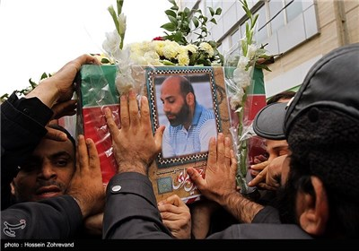 تشییع پیکر محمد حسین مرادی