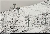 بارش برف در ارتفاعات همدان