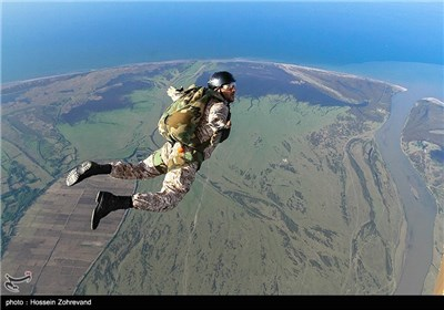 Free-fall Skydiving Exercises by Iranian Basij Forces